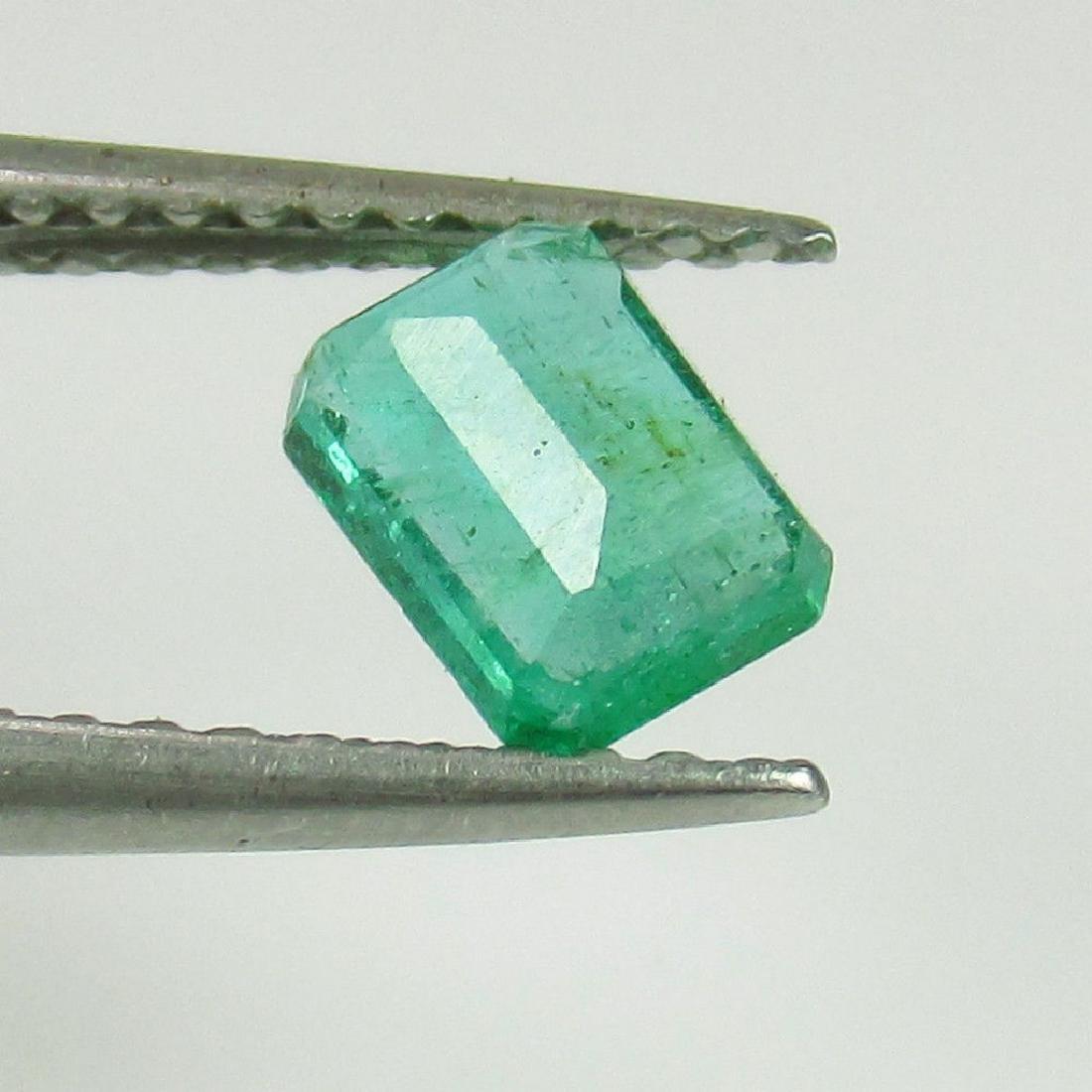 0.58 Ct Genuine Loose Zambian Emerald Octagon cut - 2