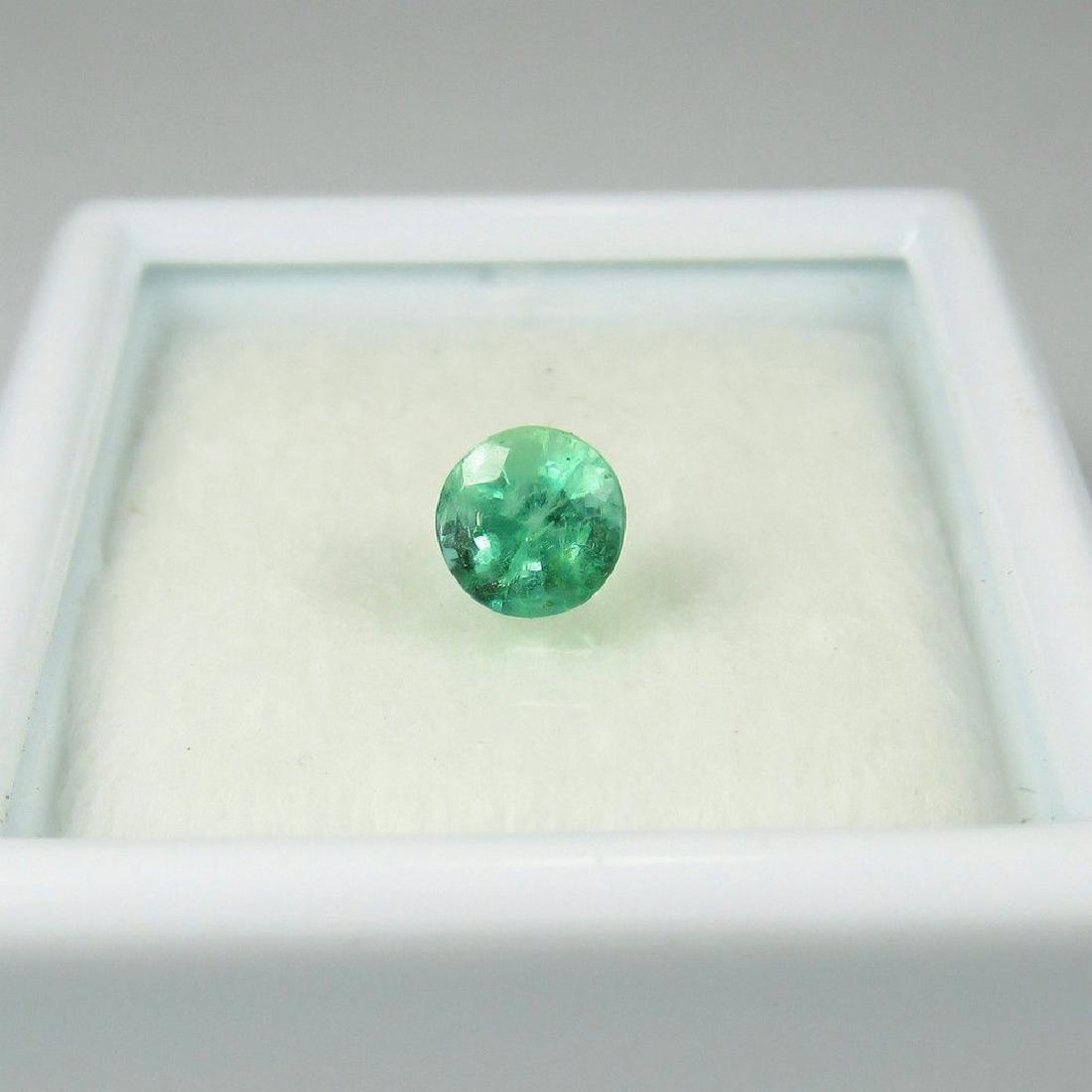 0.45 Ct Genuine Loose Zambian Emerald 4.8 mm Round cut