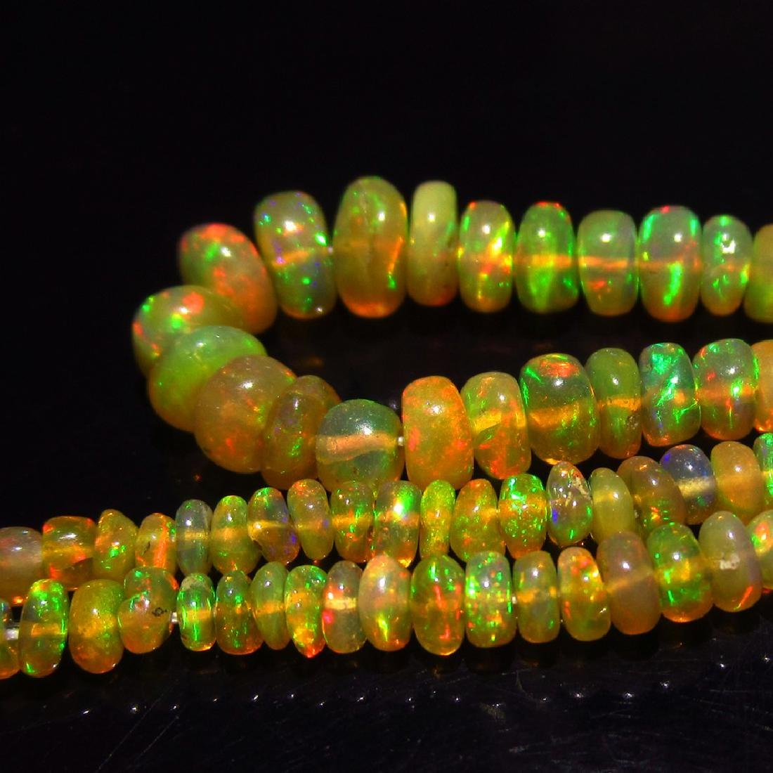 26.10 Ct Genuine Loose 186 Drilled loose Opal Beads - 2