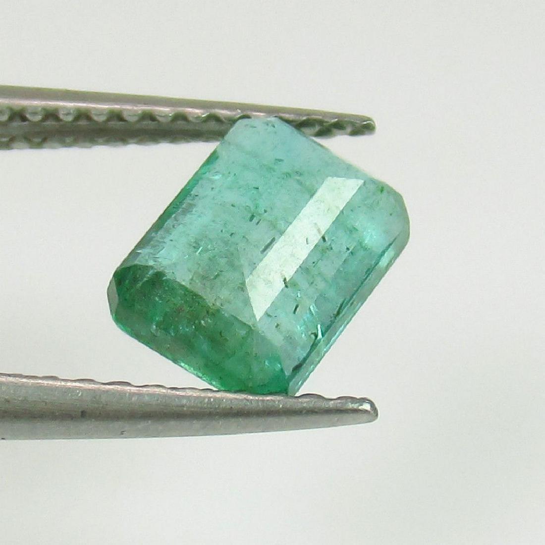 1.33 Ct Genuine Loose Zambian Emerald Octagon cut - 2