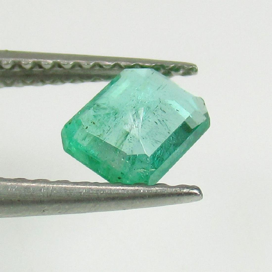 0.55 Ct Genuine Loose Zambian Emerald Octagon cut - 2