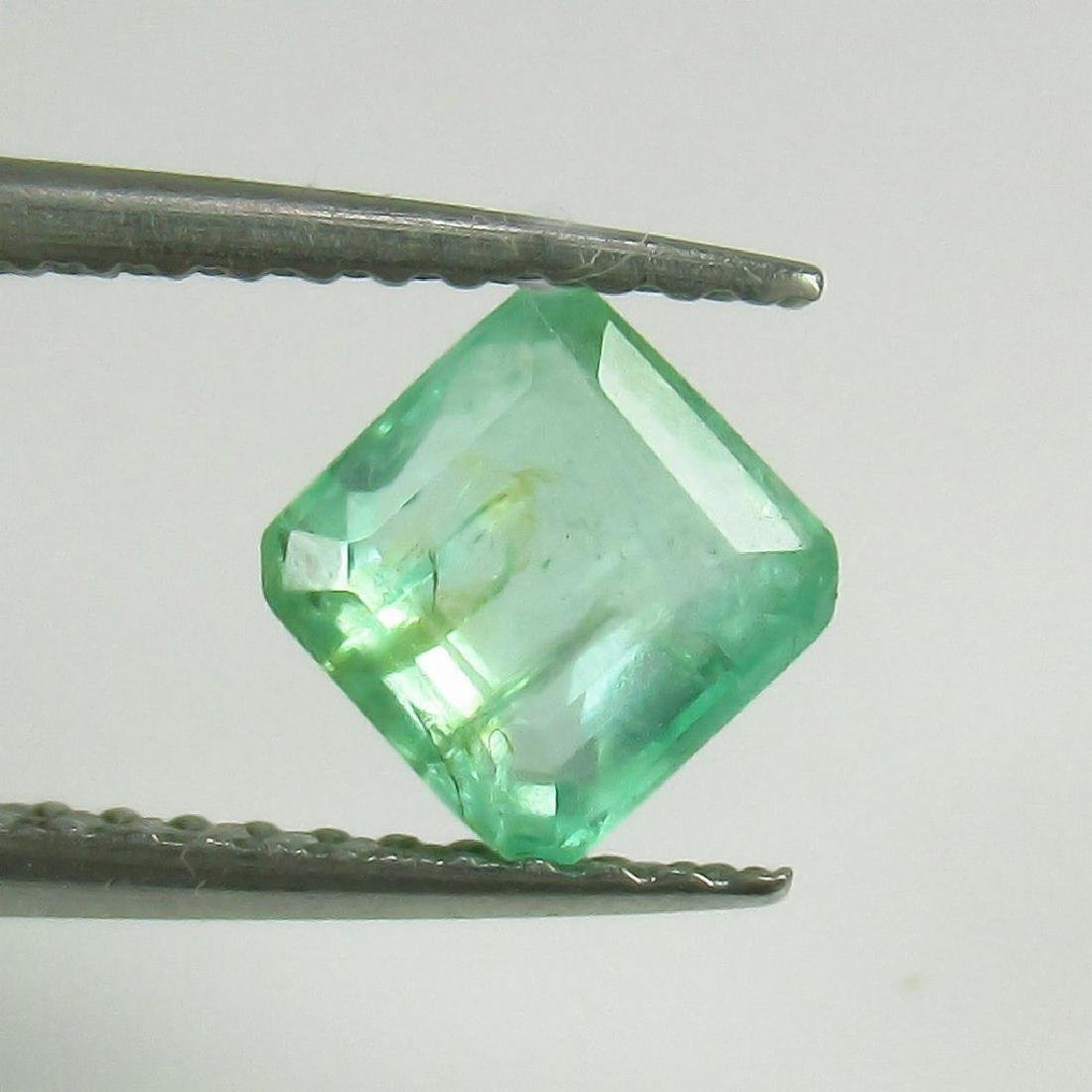 0.97 Ct Genuine Loose Colombian Emerald Square Octagon