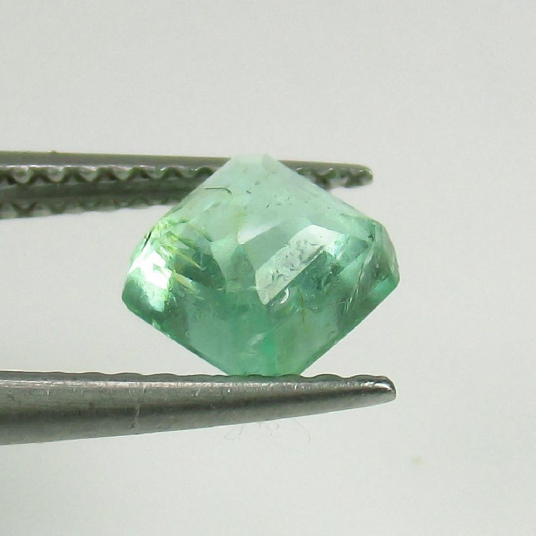 0.97 Ct Genuine Loose Colombian Emerald Square Octagon - 2