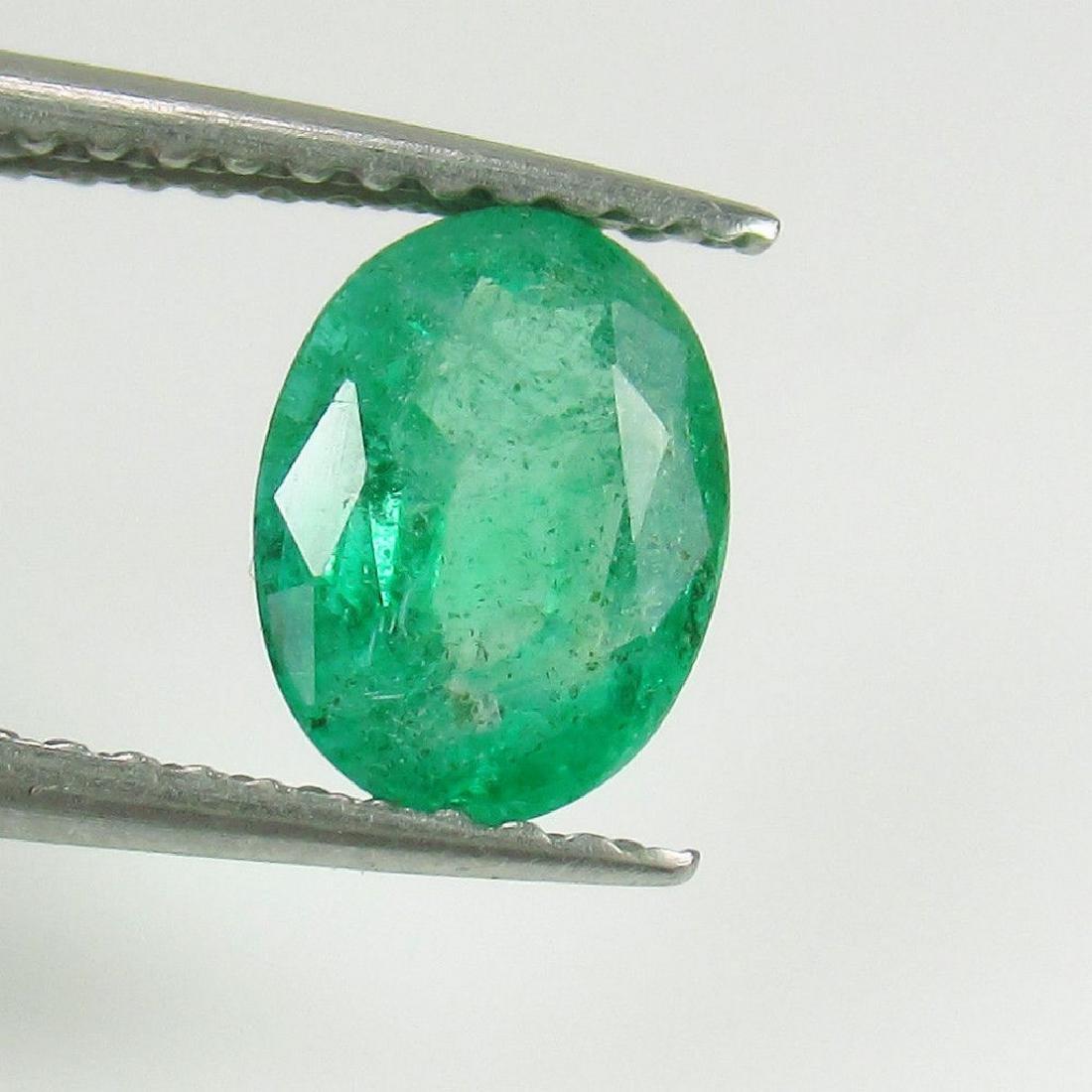 0.97 Ct Genuine Loose Zambian Emerald Oval cut