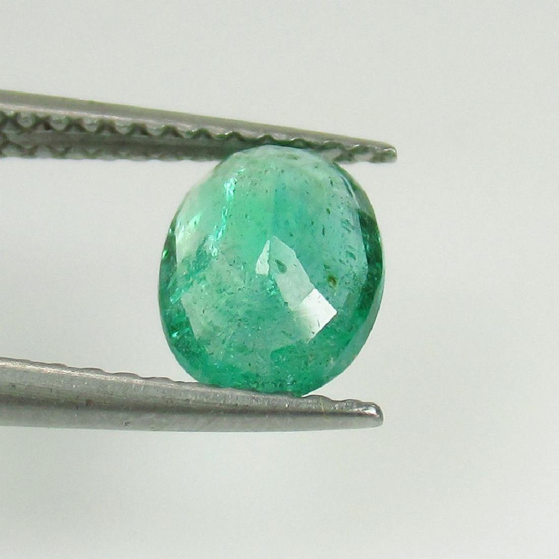 0.97 Ct Genuine Loose Zambian Emerald Oval cut - 3