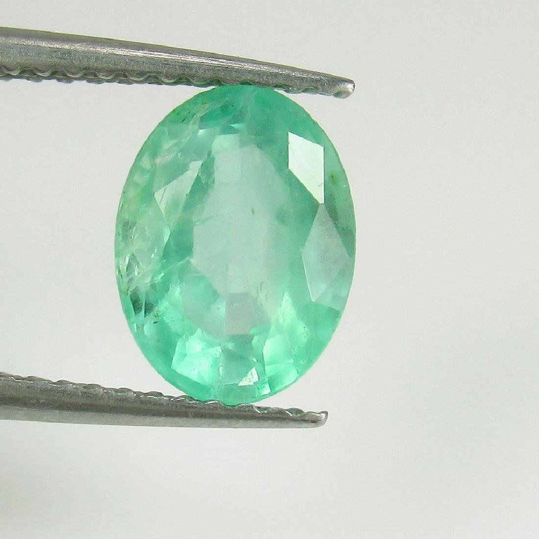 1.54 Ct Genuine Loose Colombian Emerald Oval cut