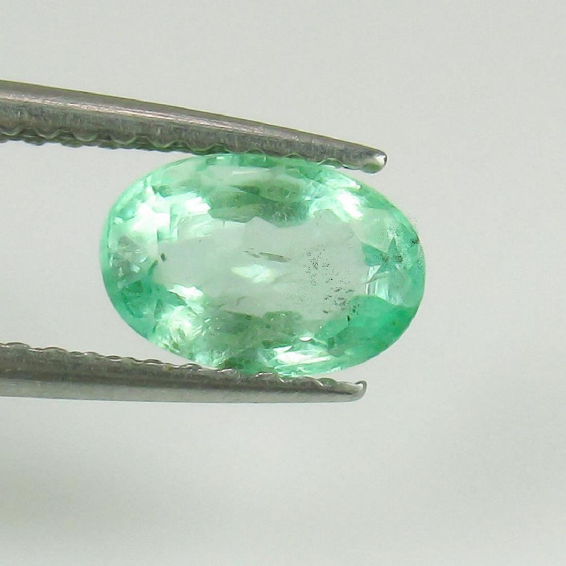 0.84 Ct Genuine Loose Colombian Emerald Oval cut
