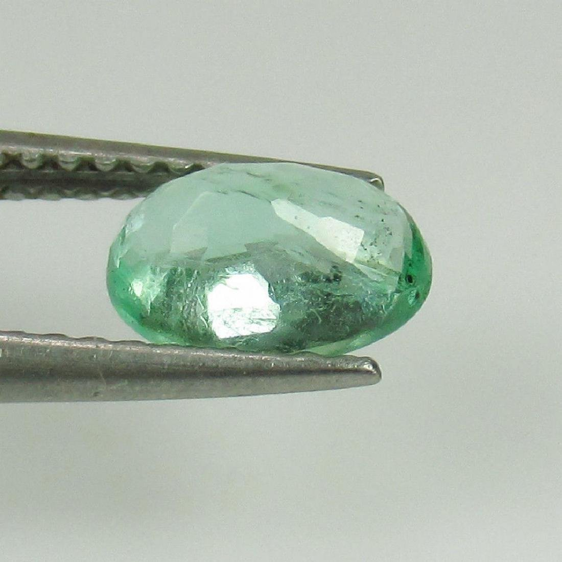 0.84 Ct Genuine Loose Colombian Emerald Oval cut - 2