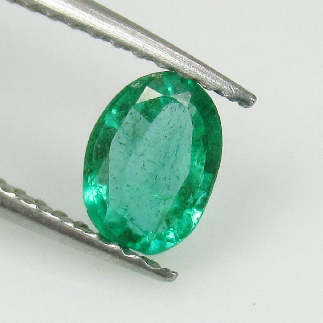 0.55 Ct Genuine Loose Zambian Emerald Oval cut - 2