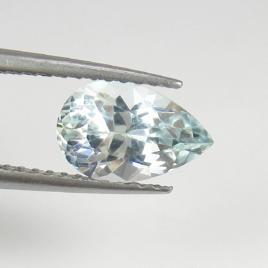 1.24 Ct Genuine Loose Aquamarine Pear cut Top Luster