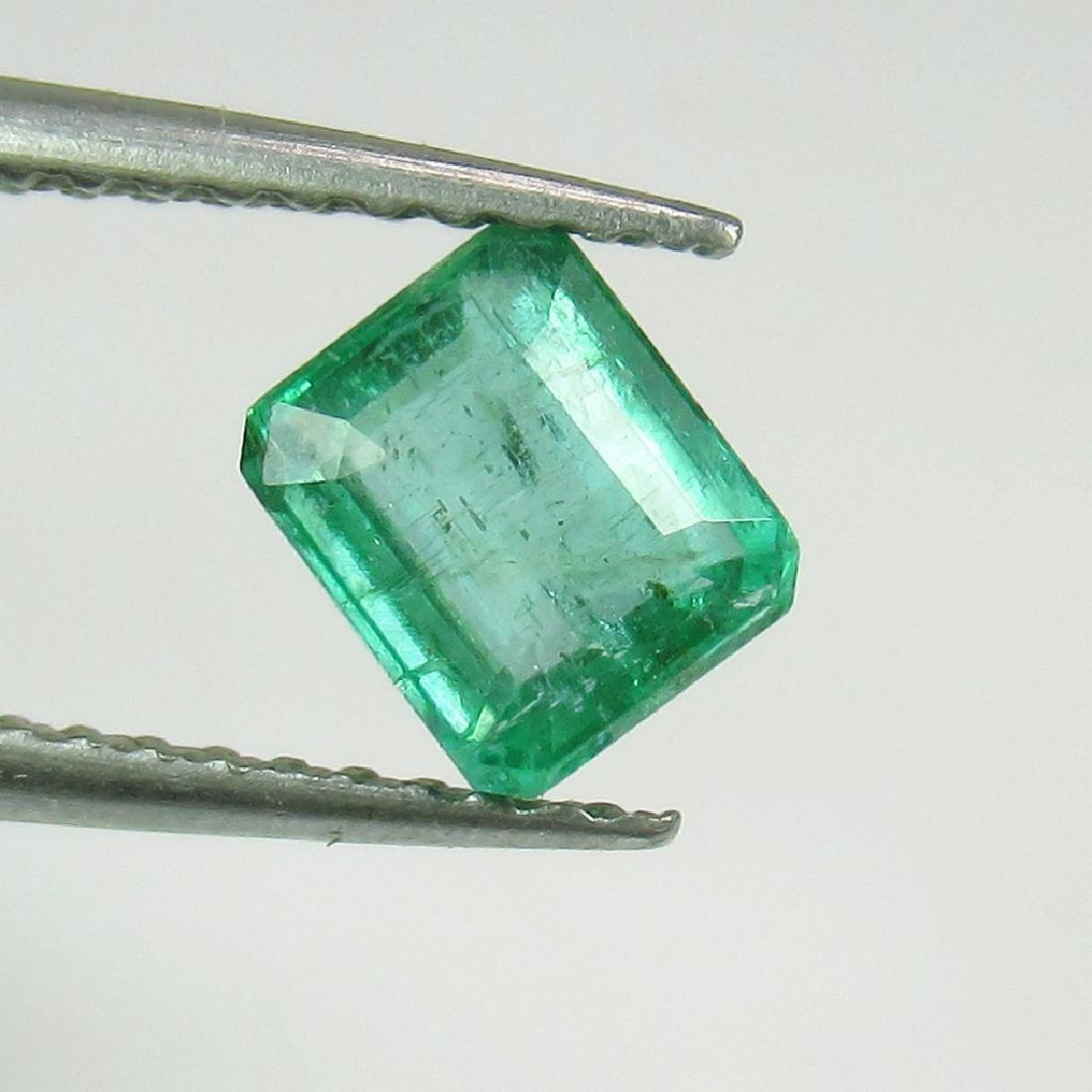 0.78 Ct Genuine Loose Zambian Emerald Octagon cut