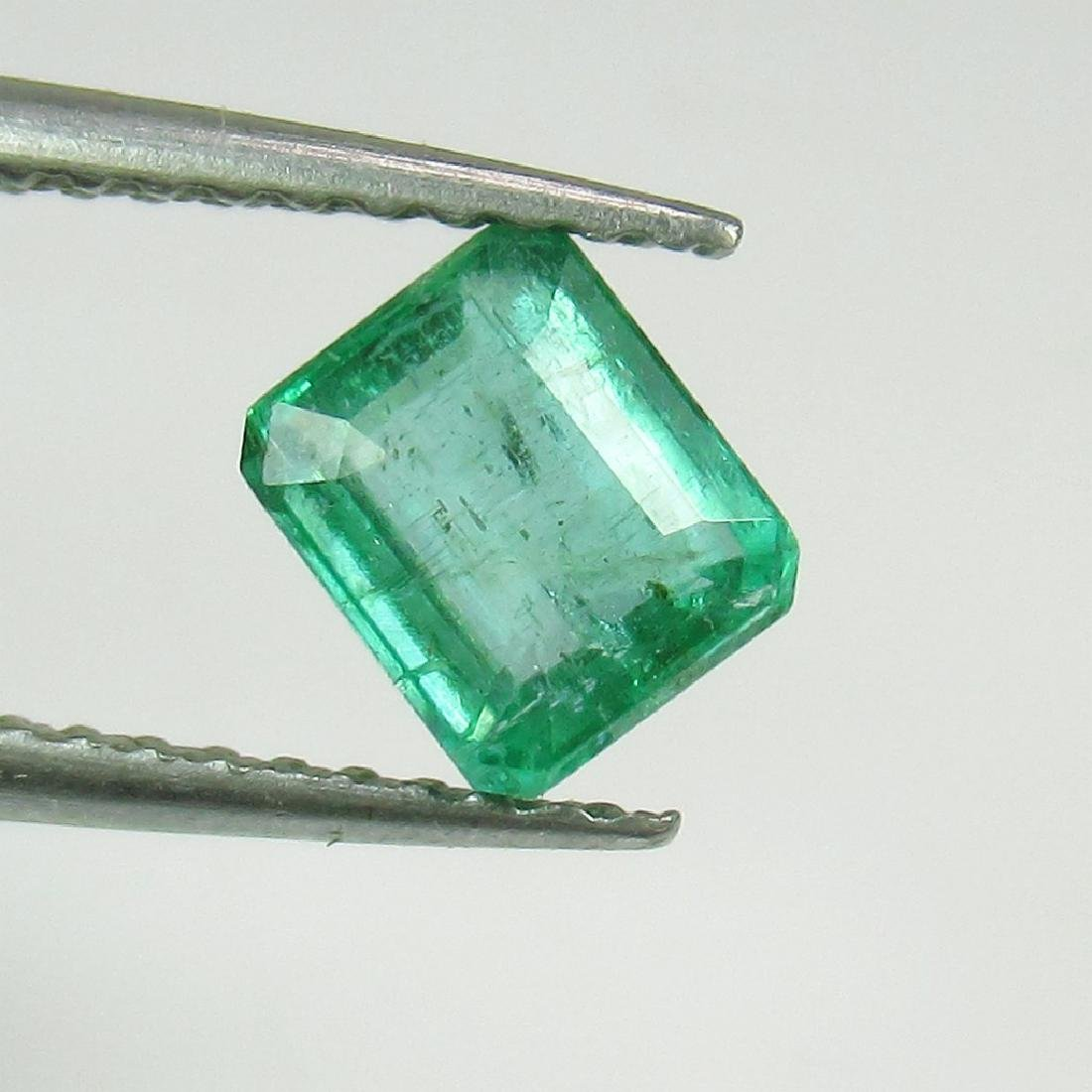 0.78 Ct Genuine Loose Zambian Emerald Octagon cut
