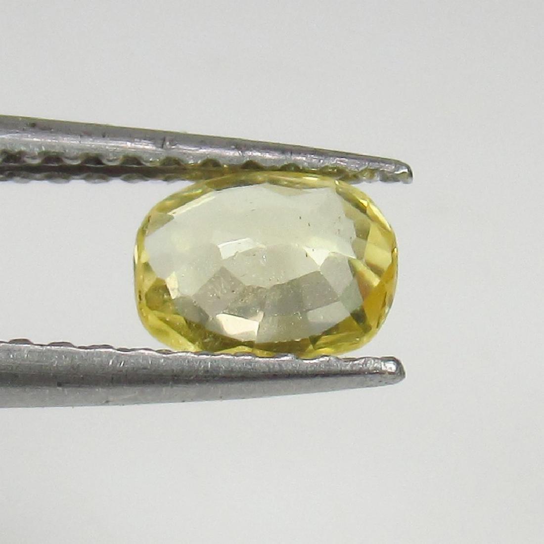 0.63 Ct Genuine Ceylon Yellow Sapphire Top Class Luster - 2