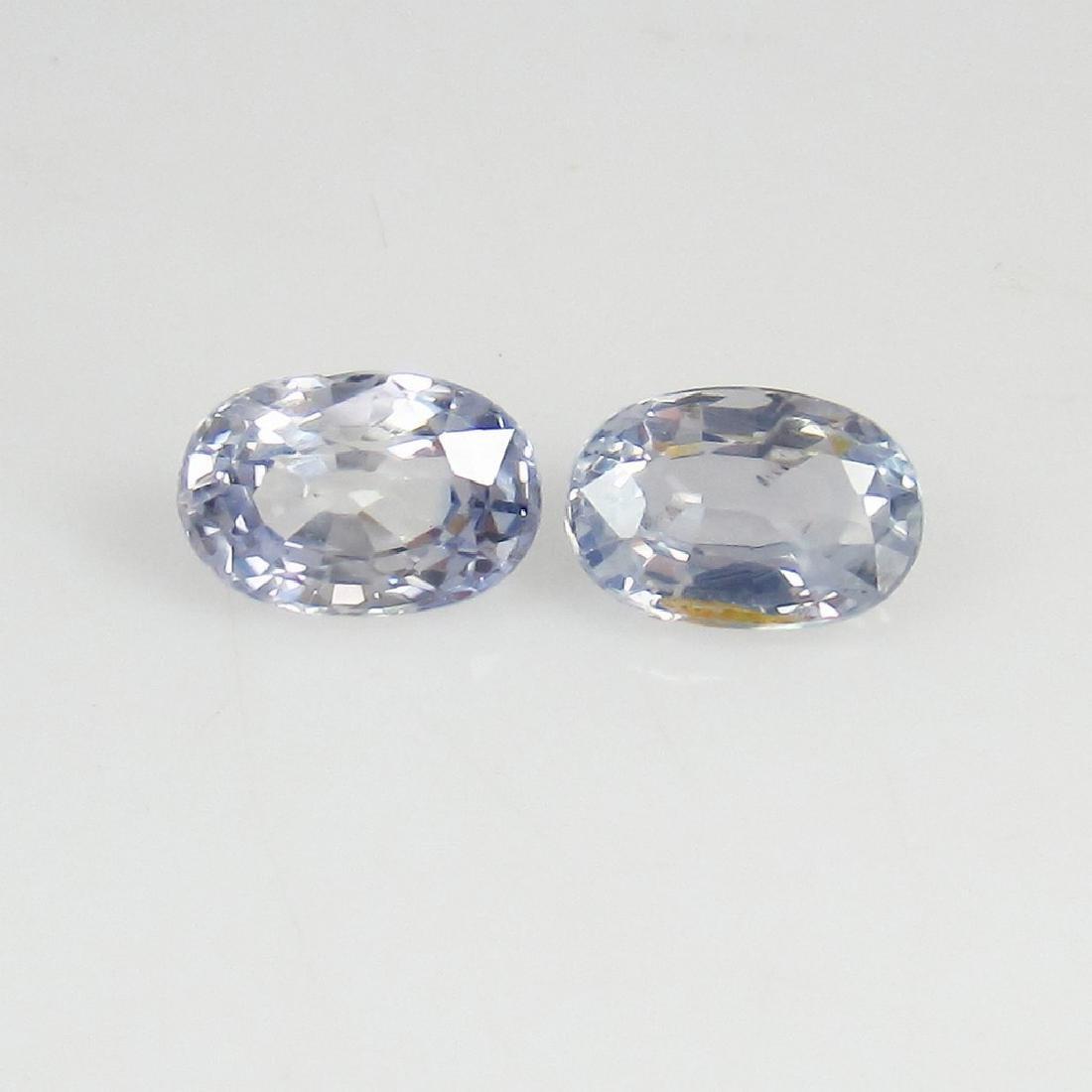 1.52 Ct Genuine Ceylon Very Light Blue Sapphire Oval