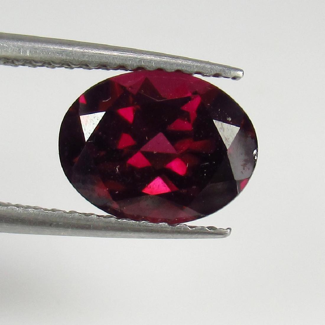 2.49 Ct Genuine Loose Deep Pink Rhodolite Garnet Good