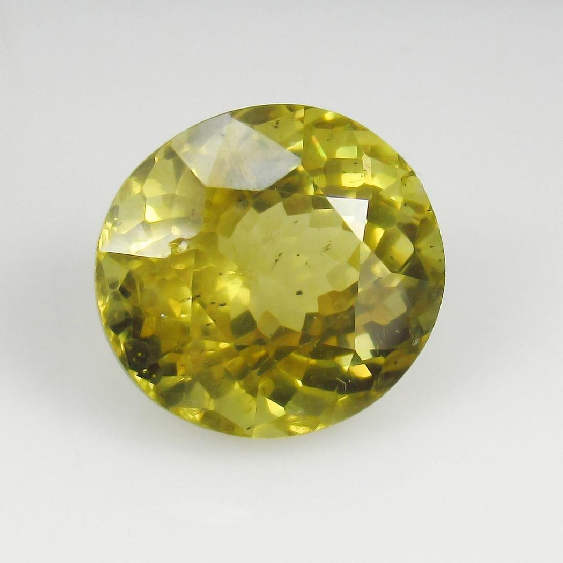 10.83 Ct Genuine Loose Good Luster Top Yellowish Green