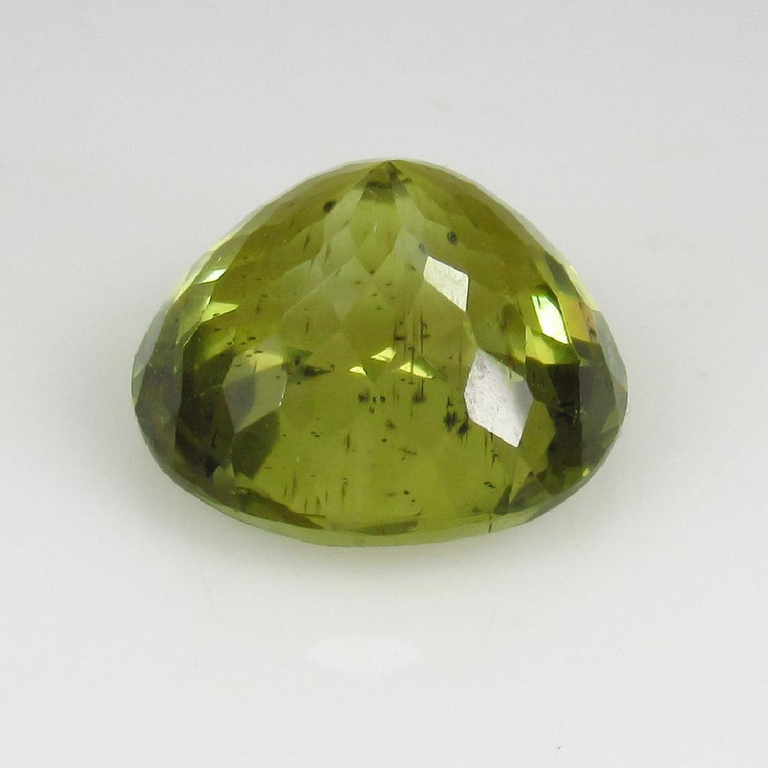 10.83 Ct Genuine Loose Good Luster Top Yellowish Green - 2