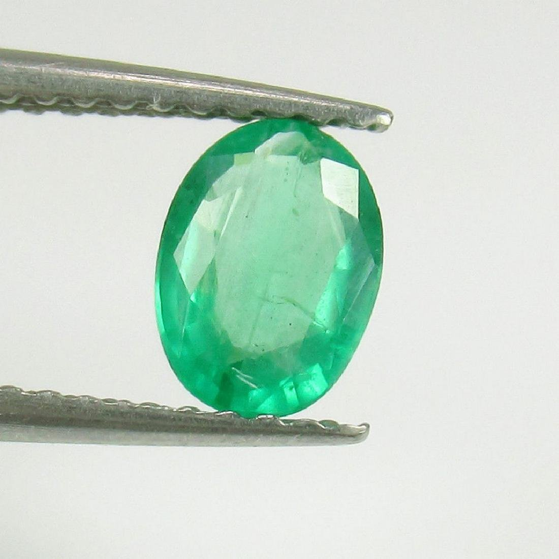 0.54 Ct Genuine Loose Colombian Emerald Oval cut