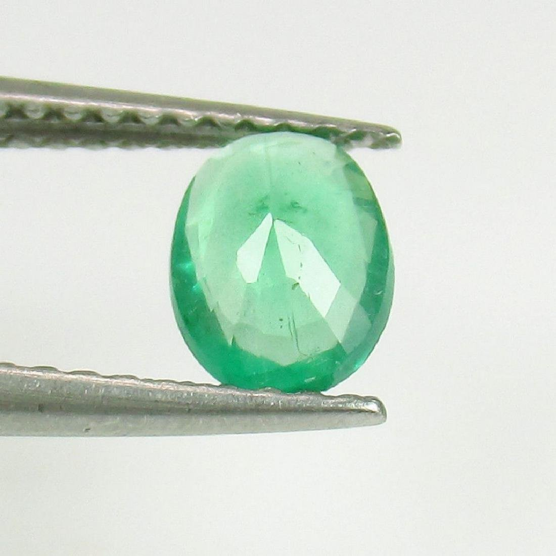 0.54 Ct Genuine Loose Colombian Emerald Oval cut - 2