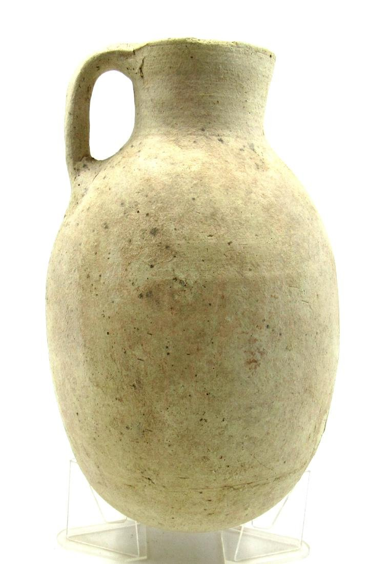 Large Ancient Greek Cypriot Jug with Handle - 2