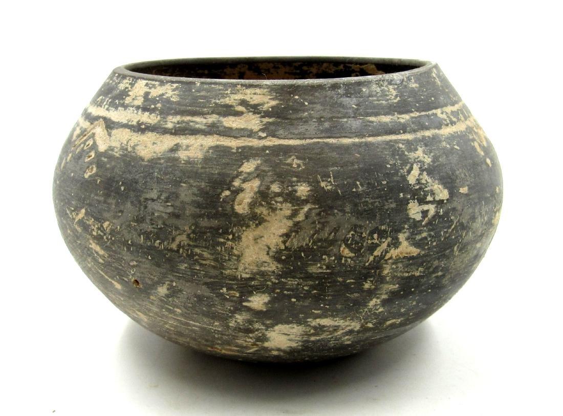 Ancient Greek Cypriot Terracotta Blackware Bowl