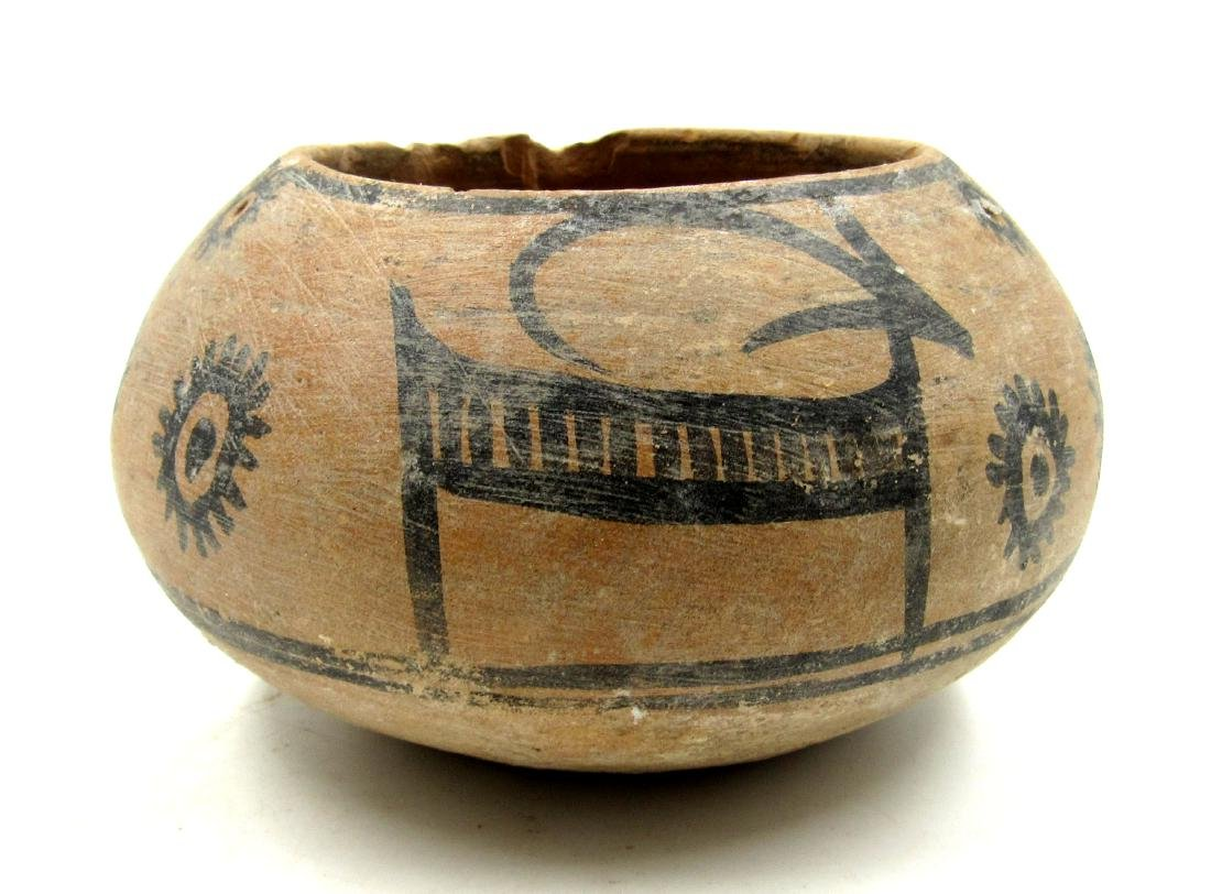 Ancient Indus Valley Terracotta Bowl with Deer