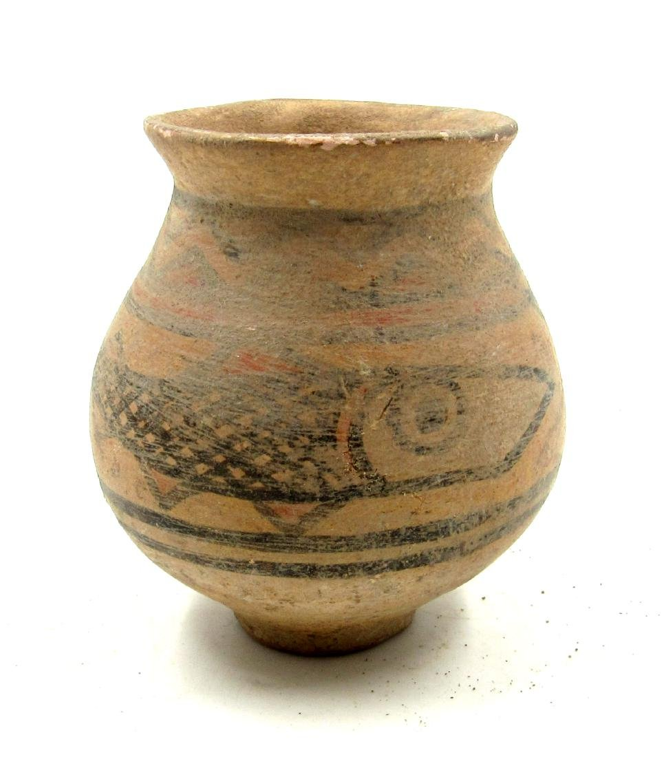 Ancient Indus Valley Terracotta Jar with Fish - 2