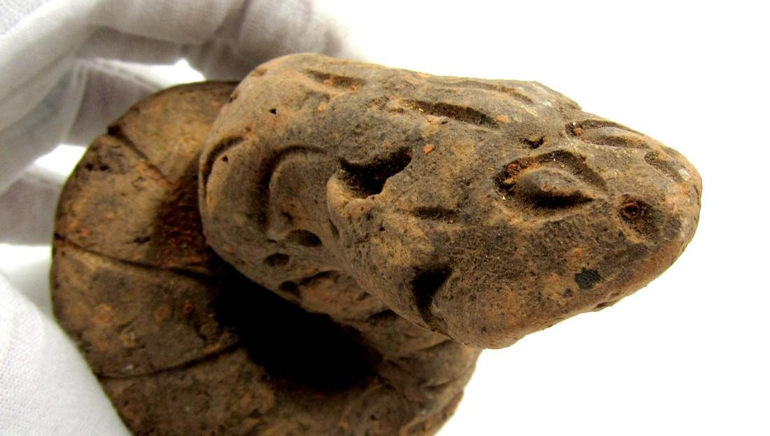 Ancient Indus Valley Terracotta Snake Idol - 3