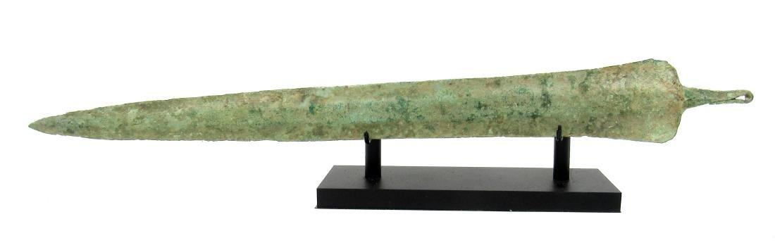 Ancient Greek Bronze Sword with Display Stand