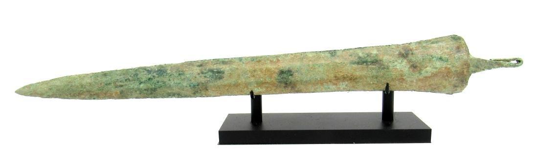Ancient Greek Bronze Sword with Display Stand - 2