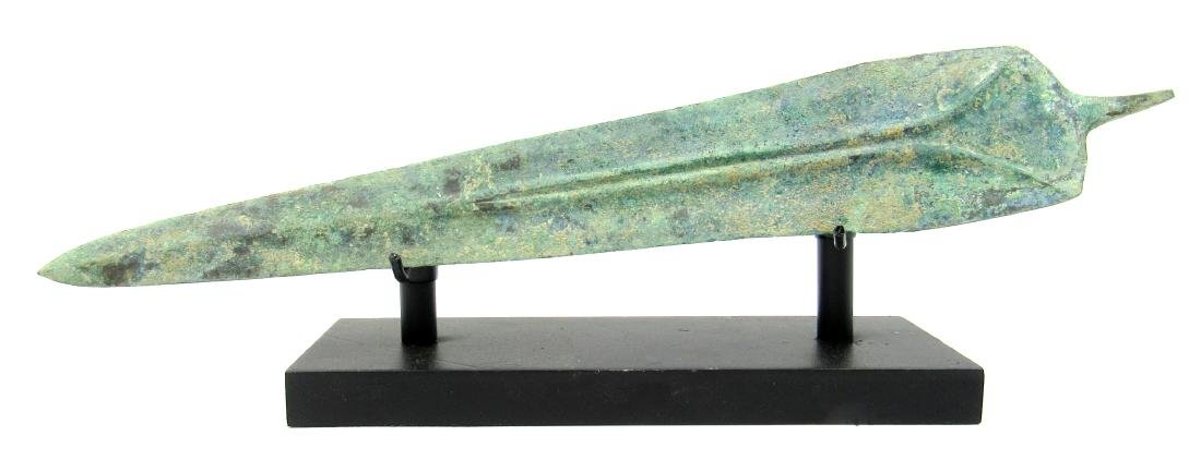 Ancient Greek Bronze Sword with Display Stand - 2