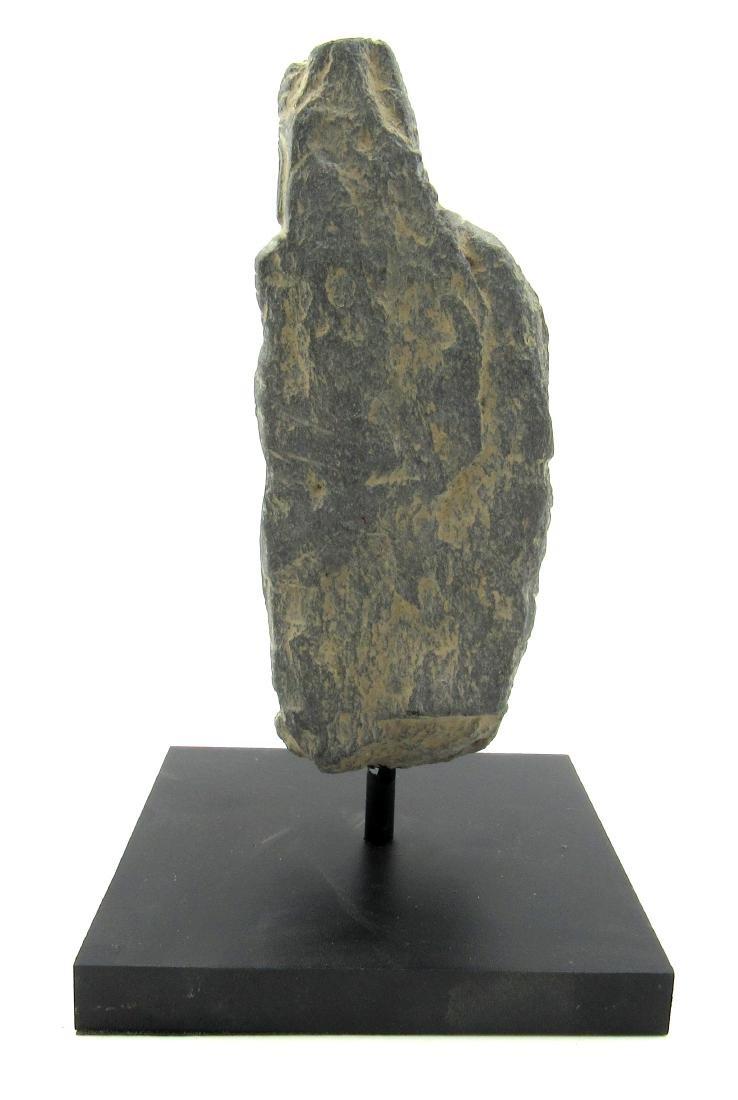 Ancient Gandhara Schist Buddha on Display Stand - 3