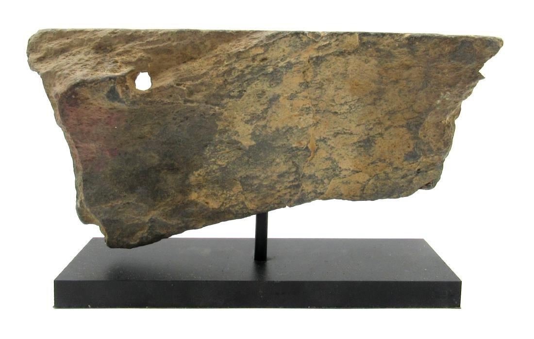 Ancient Gandhara Schist Panel with 2 Figures on Display - 3