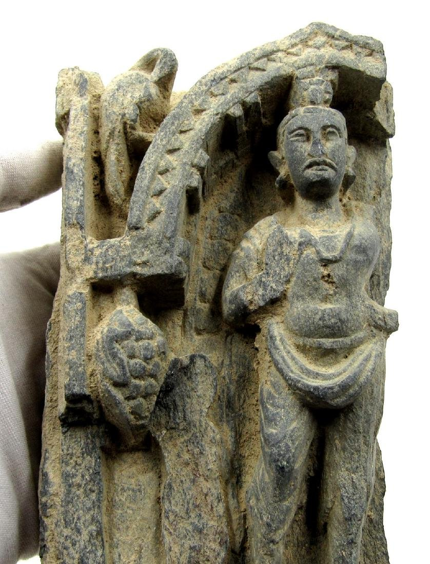 Ancient Gandhara Schist Panel with Buddha on Display - 2