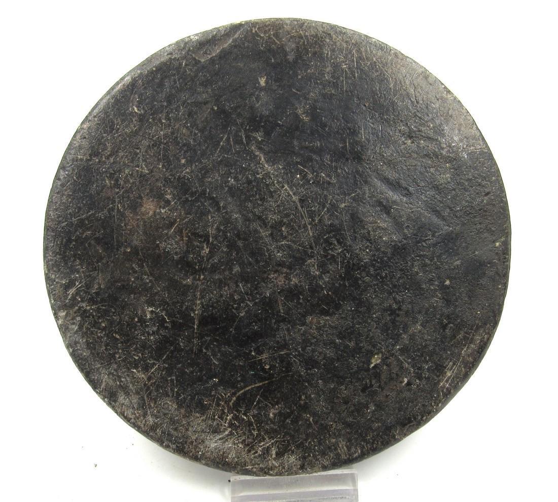 Ancient Gandhara Schist Circular Panel with Geometric - 3