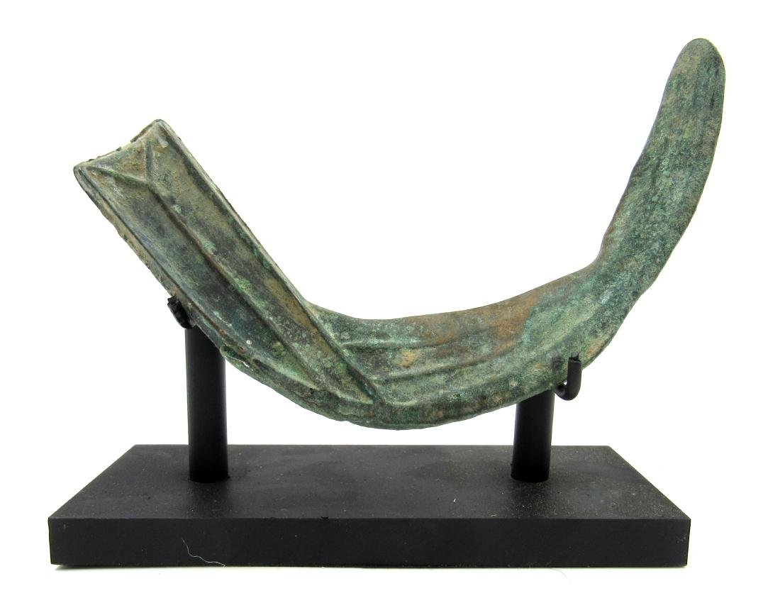 Ancient Bronze Age Celtic Sickle with Display Stand