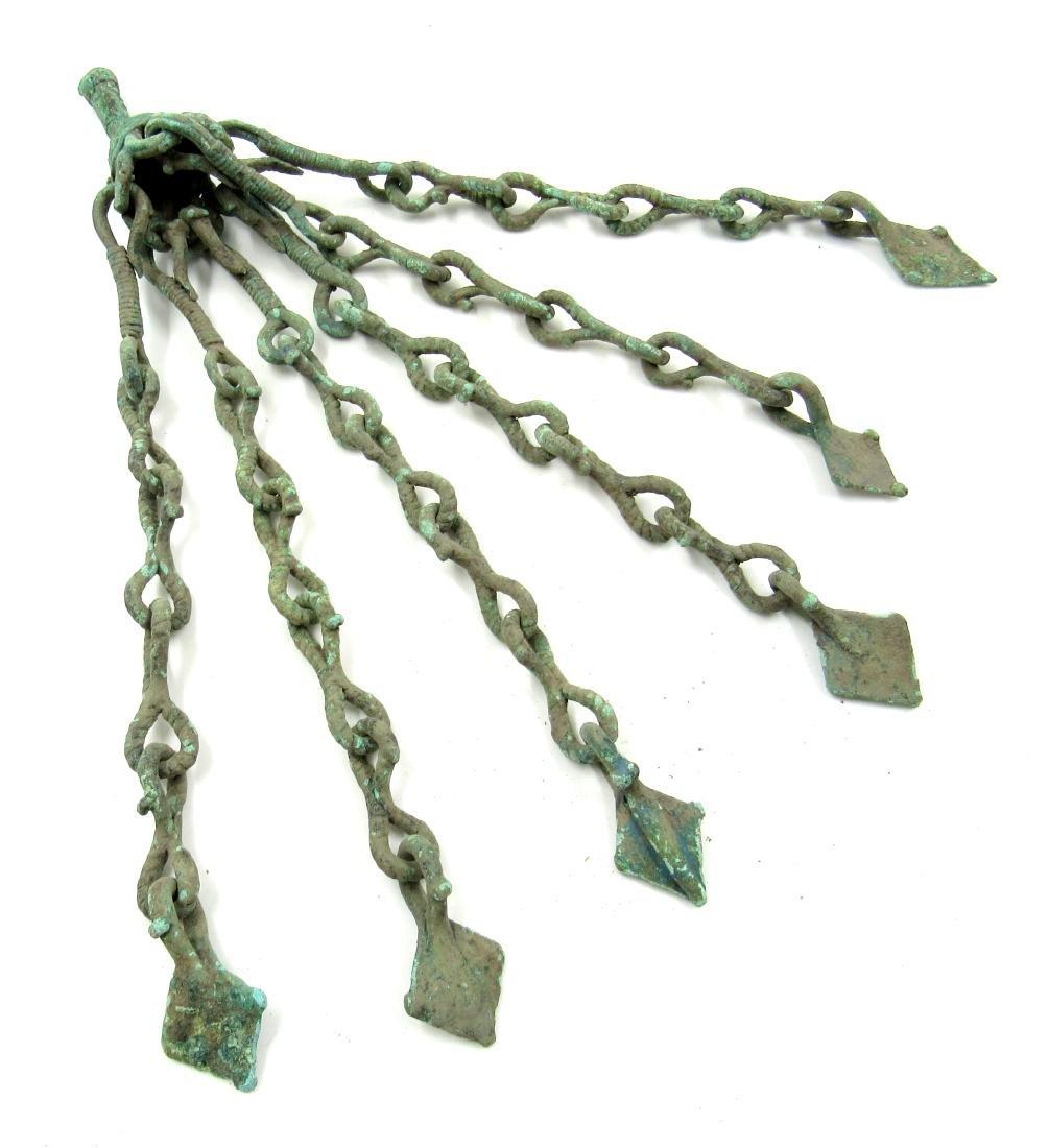 Medieval Viking Era Bronze Amulet with Tassels & Goose