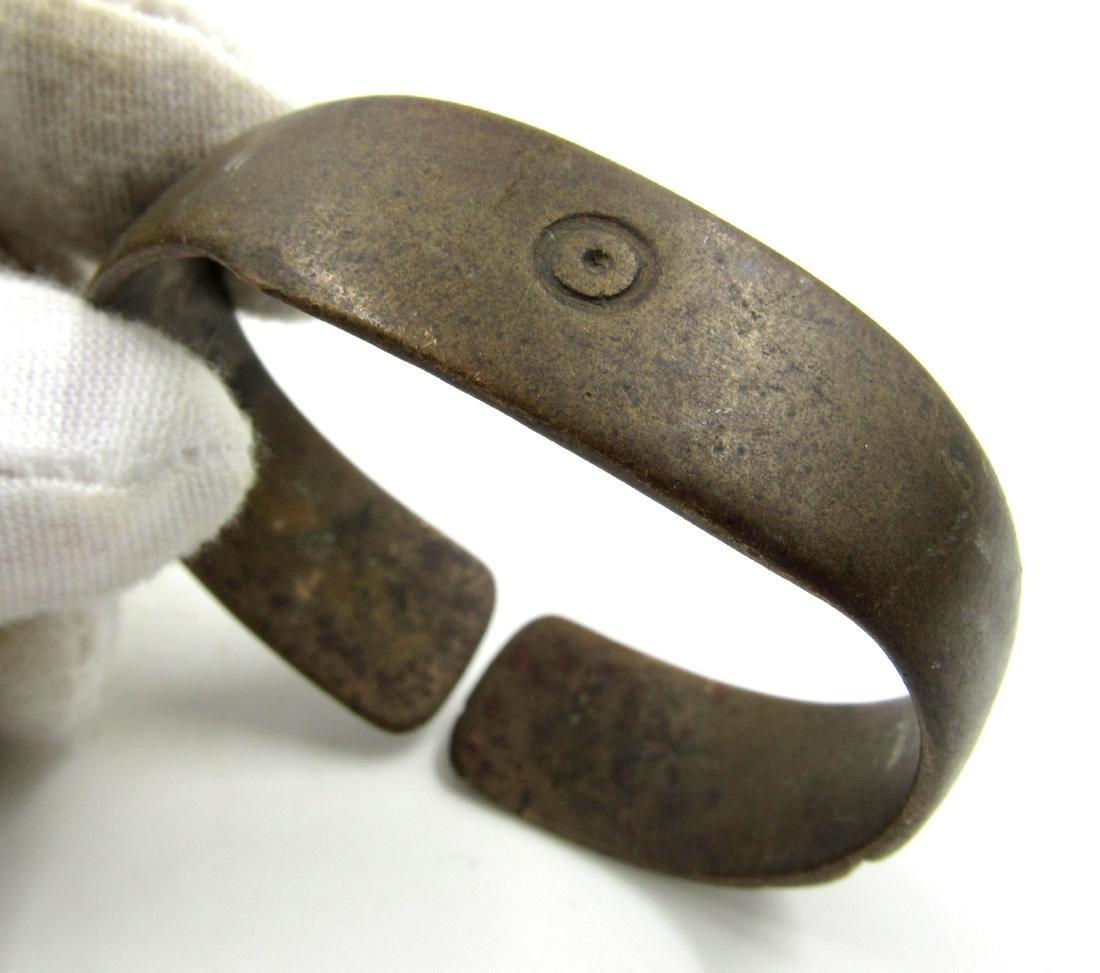 Medieval Saxon Era Bronze Bracelet with Evil's Eye