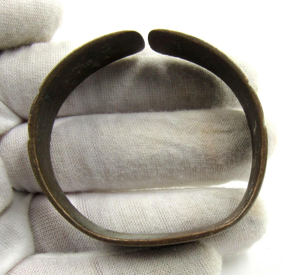 Medieval Saxon Era Bronze Bracelet with Evil's Eye - 3