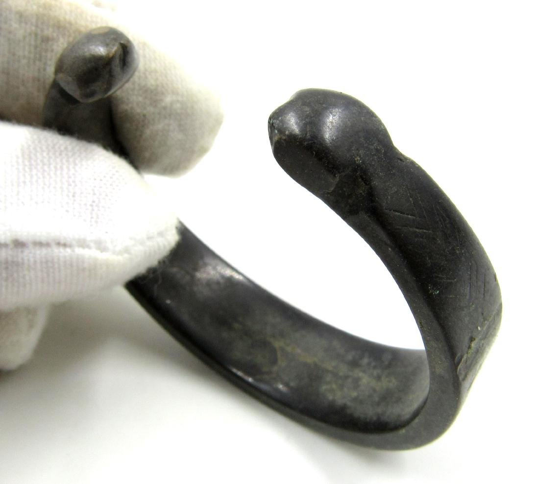 Medieval Viking Era Bronze Decorated Bracelet with - 2