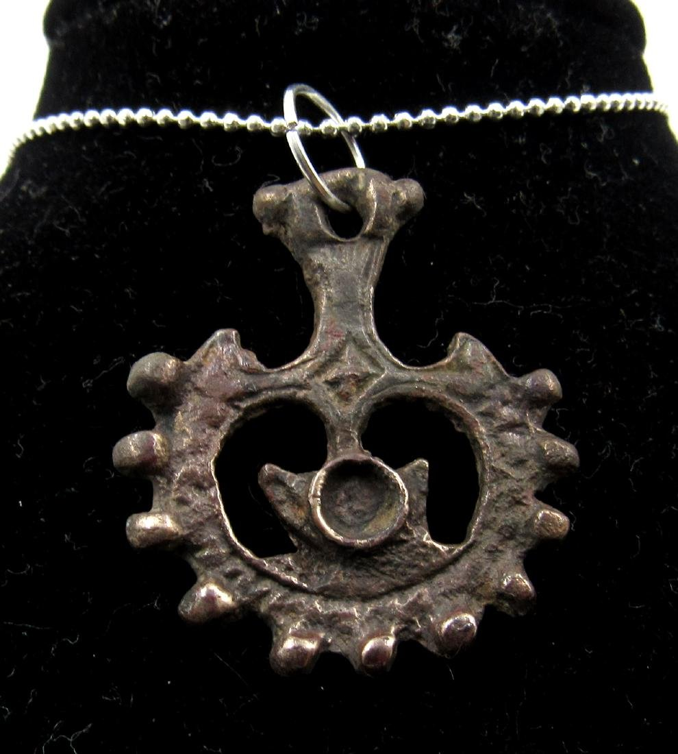 Medieval Viking Era Bronze Hammer of God Thor Amulet