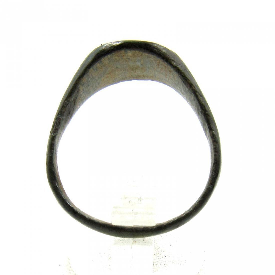 Medieval Viking Era Bronze Runic Ring - 2