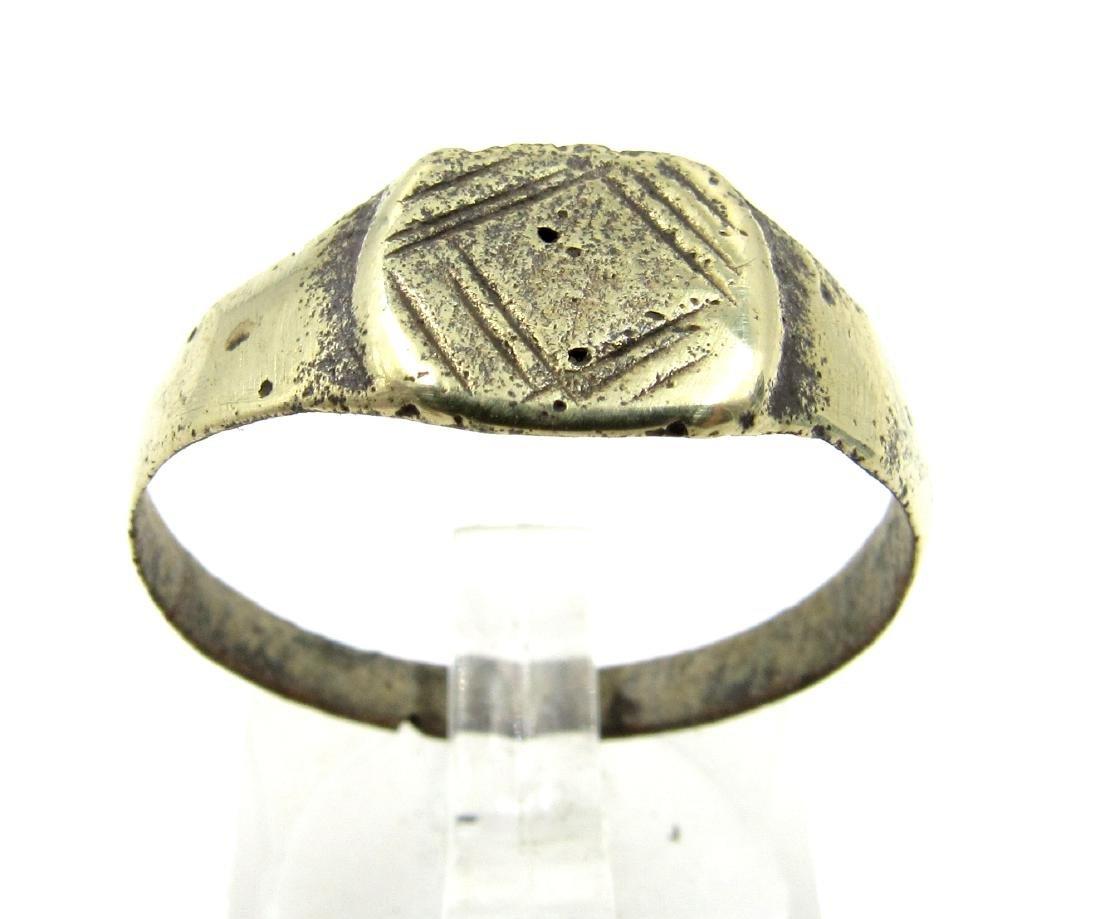 Medieval Viking Era Bronze Dragon's Eye Ring