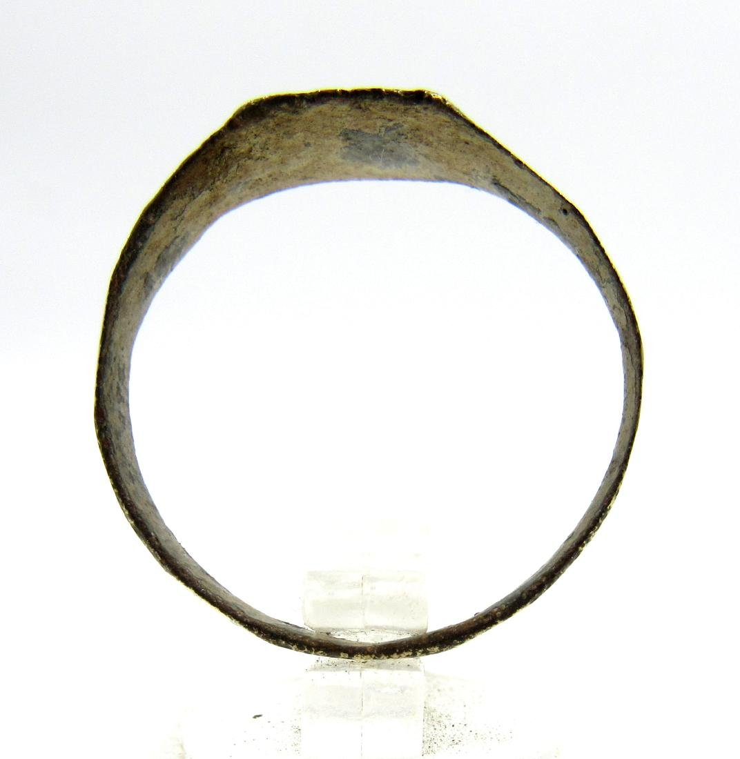 Medieval Viking Era Bronze Dragon's Eye Ring - 3