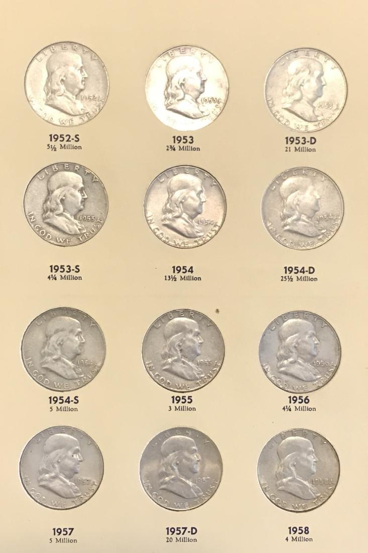 Benjamin Franklin Half Dollar Complete Collection - 5