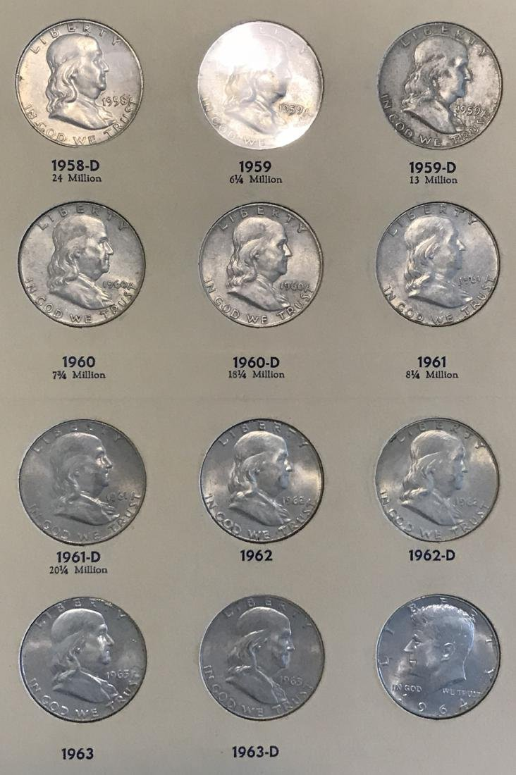 Benjamin Franklin Half Dollar Complete Collection - 7