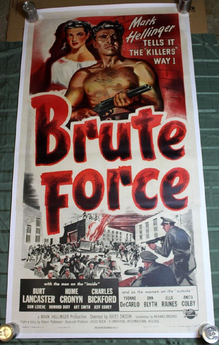 Brute Force (USA, 1947) US Three Sheet Movie Poster