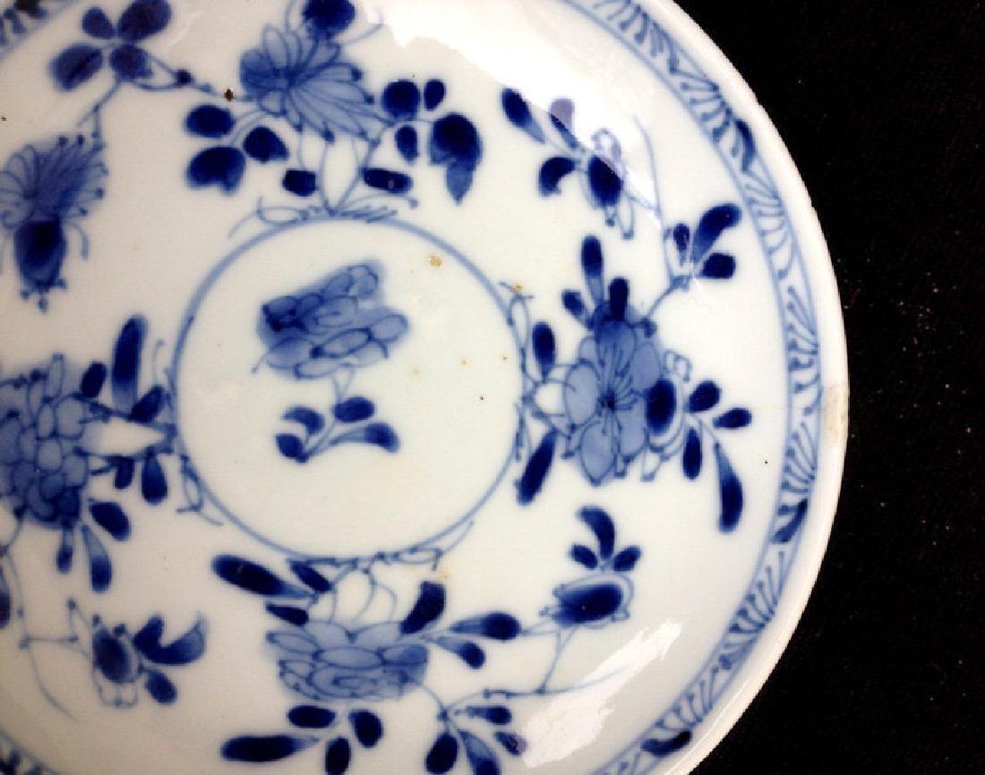 Kangxi blue and white saucer bowl, c 1700 - 4