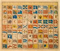 1758 Bellin Chart of the Flags of Sea-Going Nations --