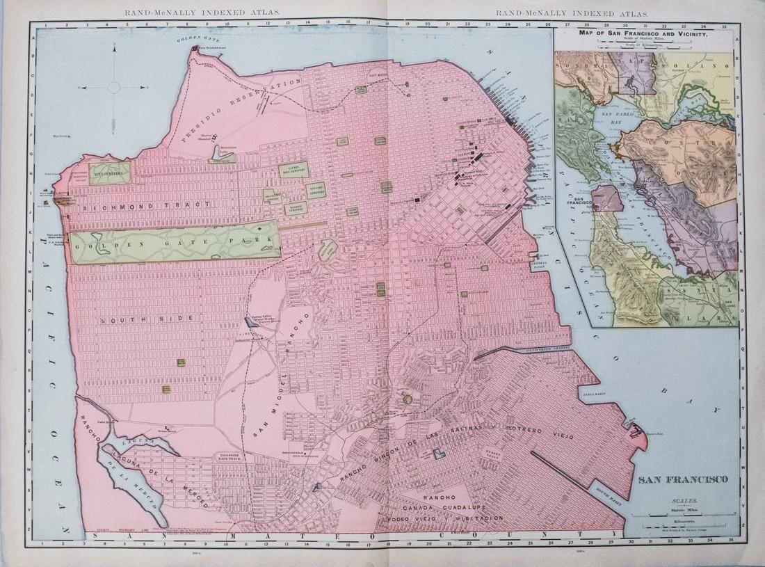 1905 Rand McNally Map of San Francisco -- San Francisco